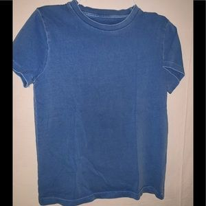 Mini Boden Boys blue shirt sleeve T shirt 7 8